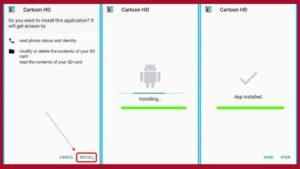 How to install Cartoon HD Apk
